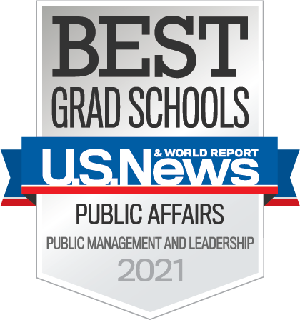 Best Grad Schools 2021 - subcategory of public affairs and leadership
